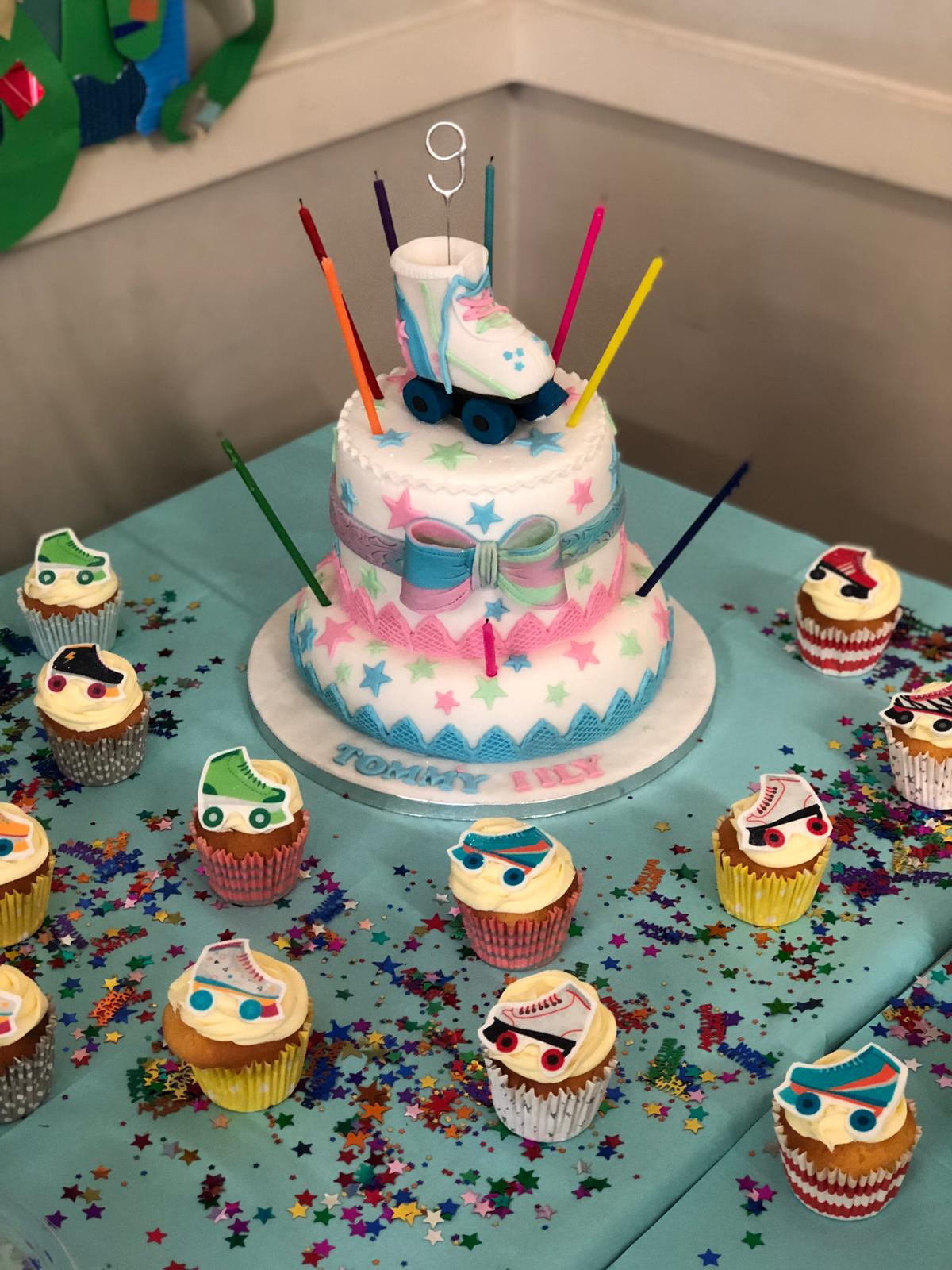 Skate Party cake! - book a DiscoSkate party today